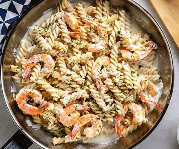 Creamy Shrimp and Fusilli Pasta