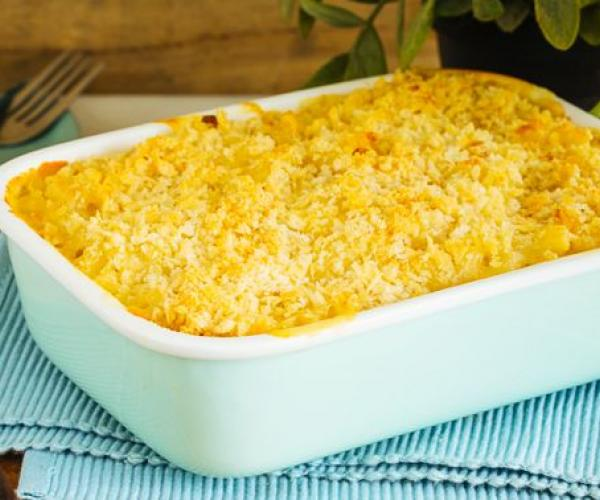 Mmmacaroni and Four-Cheese Bake