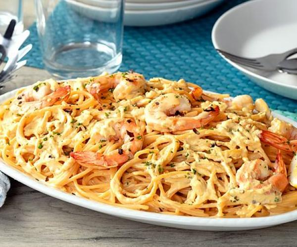 Salted Egg Shrimp Pasta