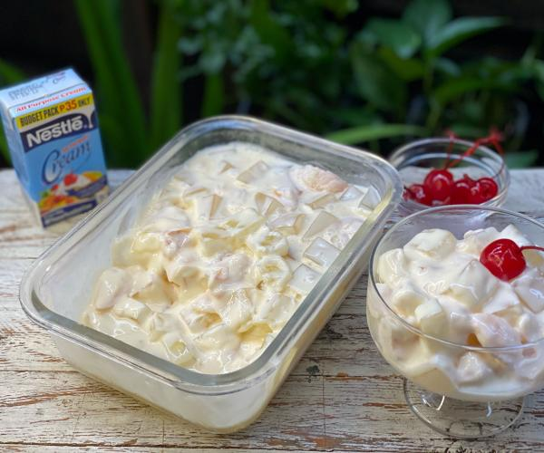 Creamy Almond Jelly and Lychee Salad