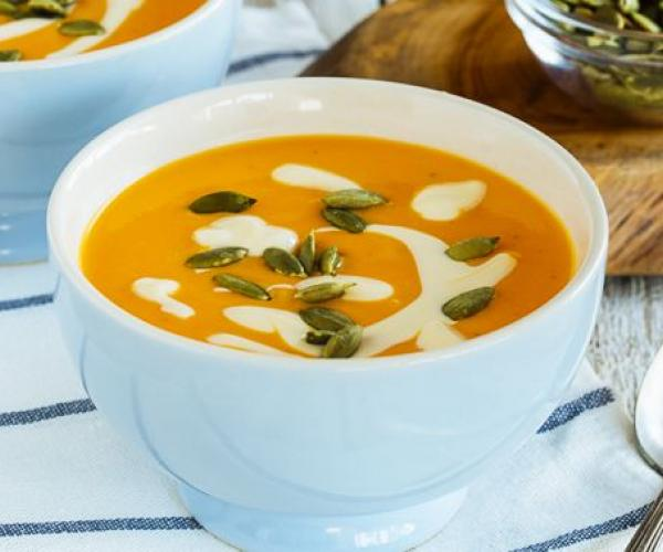 Creamy Thick Carrot and Squash Soup