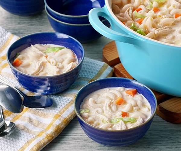Creamy Chicken Macaroni Soup
