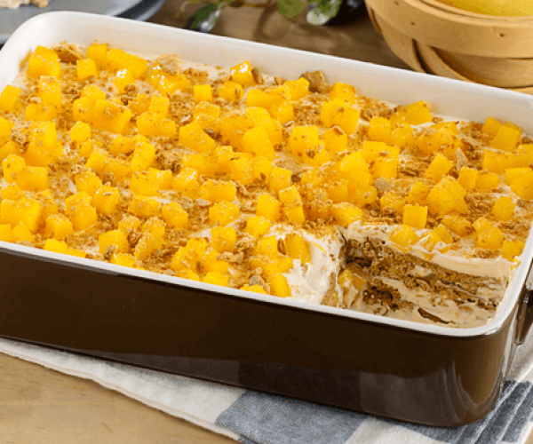 Mango Graham Ice Box Ref Cake