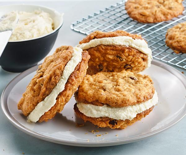 Oatmeal and Raisin Sandwich Cookies