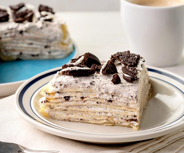 Cookies and Cream Crepe Cake