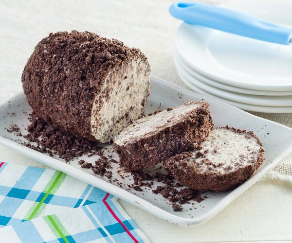 Cookies and Cream Ice Cream Roll