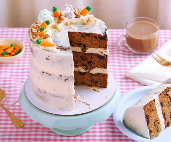 Easter Carrot Cake with Cream Cheese Frosting